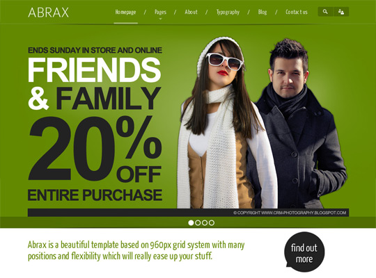ABRAX - WordPress Theme