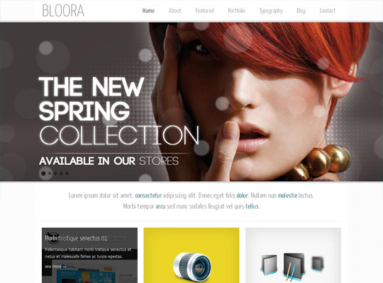 Bloora Template for Joomla 1.6