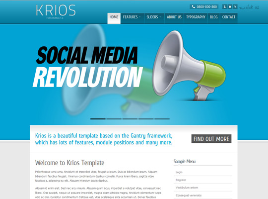 Krios Template for Joomla 1.6